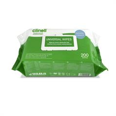 s PACK OF CLINELL UNIVERSAL 200 WIPES