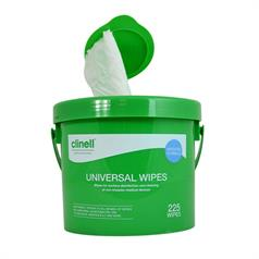 s BUCKET OF CLINELL UNIVERSAL 225 WIPES