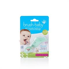B/BABY CHEWABLE TEETHER T/BRUSH CLEAR