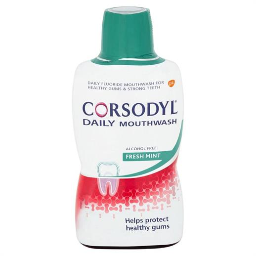 Corsodyl Daily Alcohol Free Freshmint 500ml M/R (Pack of 6)