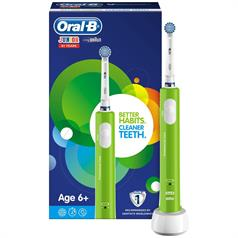 s ORAL B JUNIOR YRS 6+ POWER HANDLE GREEN
