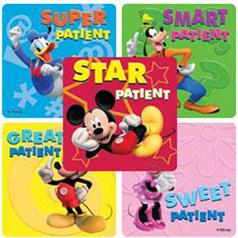 MICKEY PATIENT STICKER ASSORT
