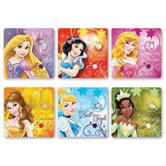 GLITTER DISNEY PRINCESS STICKER ASSORT