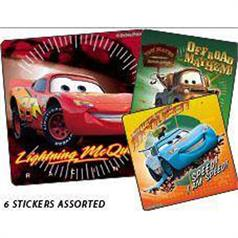 DISNEY CARS SUPERCHARGED STICKER ASSORT