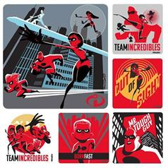 THE INCREDIBLES 2 STICKER ASSORT