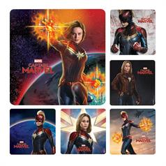 CAPTAIN MARVEL STICKER ASSORT