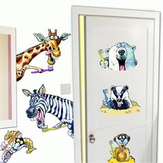 DENTAL FABRIC WALL STICKER ASSORT